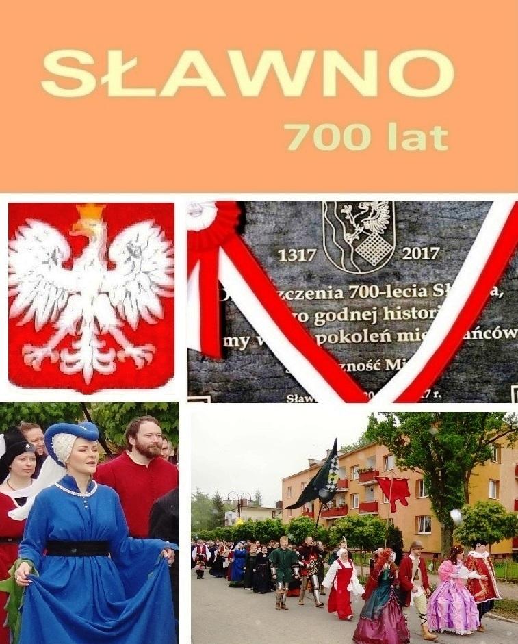 700 Jahre Partnerstadt von Ribnitz-Damgarten Sławno in der polnischen Woiwodschaft Westpommern im Jahre 2017. Grafik: Eckart Kreitlow - Ostsee-Rundschau.de