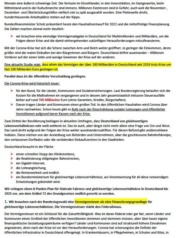 Förderale Fairness - 8-Punkte-Plan für gleichwertige Lebensverhältnisse bis 2025 - Eva von Angern, Susanne Hennig-Wellsow, Simone Oldenburg, Dietmar Bartsch, Klaus Lederer, Bodo Ramelow - 24. März 2021 - Bundespressekonferenz - Abschnitt 2