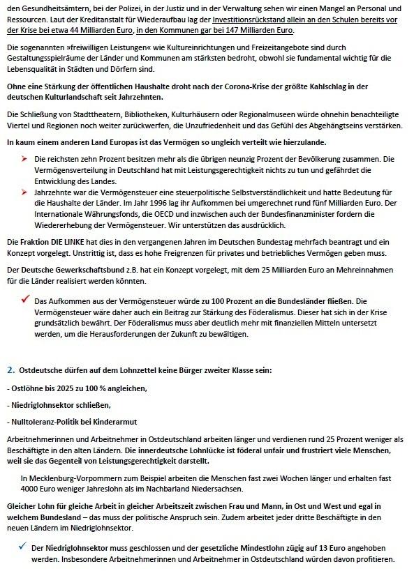 Förderale Fairness - 8-Punkte-Plan für gleichwertige Lebensverhältnisse bis 2025 - Eva von Angern, Susanne Hennig-Wellsow, Simone Oldenburg, Dietmar Bartsch, Klaus Lederer, Bodo Ramelow - 24. März 2021 - Bundespressekonferenz - Abschnitt 3