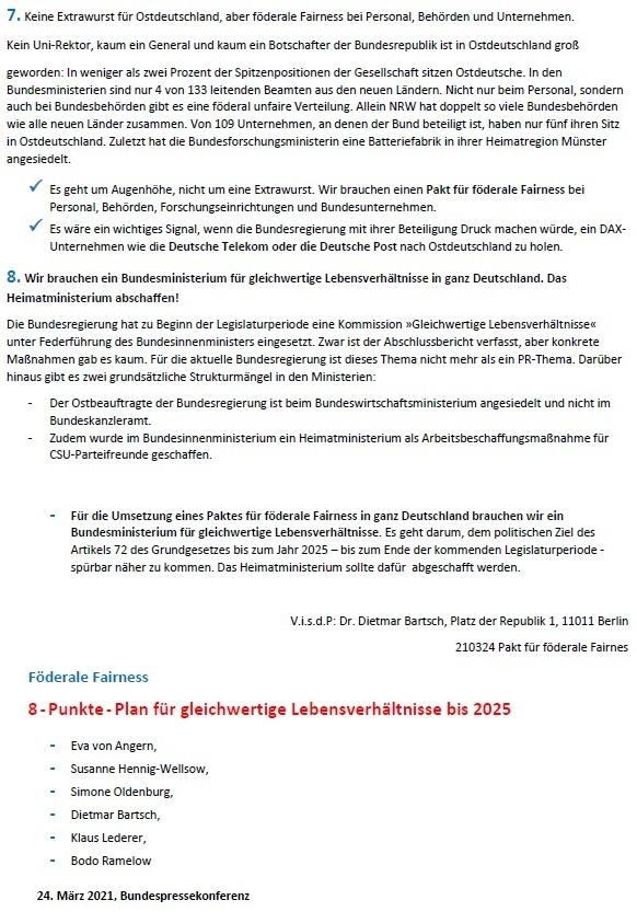 Förderale Fairness - 8-Punkte-Plan für gleichwertige Lebensverhältnisse bis 2025 - Eva von Angern, Susanne Hennig-Wellsow, Simone Oldenburg, Dietmar Bartsch, Klaus Lederer, Bodo Ramelow - 24. März 2021 - Bundespressekonferenz - Abschnitt 6