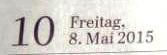 Ostsee-Zeitung vom 8.Mai 2015 Lokalteil Ribnitz-Damgarten Seite 10