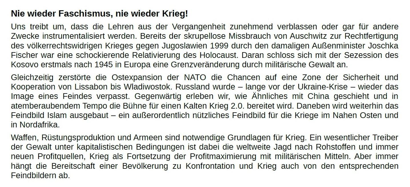 Aus dem Posteingang von Dr. Marianne Linke - ATTAC-Erklärung zum 76. Jahrestag der Befreiung von Auschwitz - PDF - Seite 1 Abschnitt 2