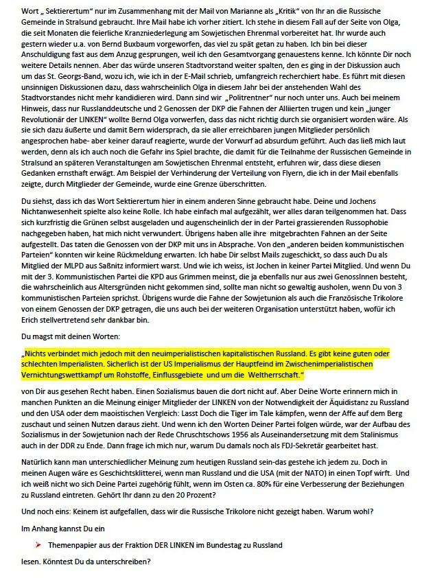Antwort auf die Mail von Kalle - Aus dem Posteingang von Siegfried Dienel vom 27.05.2021 - Abschnitt 2