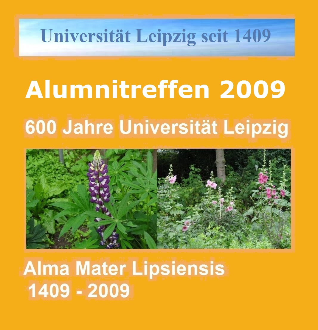600 Jahre Alma mater Lipsiensis - Universität Leipzig 1409 - 2009 - Alumnitreffen - eine Sonderseite der Neuen Unabhängigen Onlinezeitungen (NUOZ) auf Ostsee-Rundschau.de - Grafik und Fotos: Eckart Kreitlow