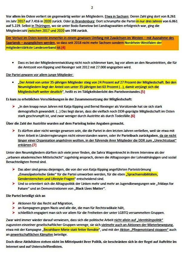 Die Post-Wagenknecht-Linke - Die Partei DIE LINKE nach ihrem Bundesparteitag - Andreas Wehr - ND - 05.03.2021 - Aus dem Posteingang von Siegfried Dienel vom 11.03.2021 - Abschnitt 2