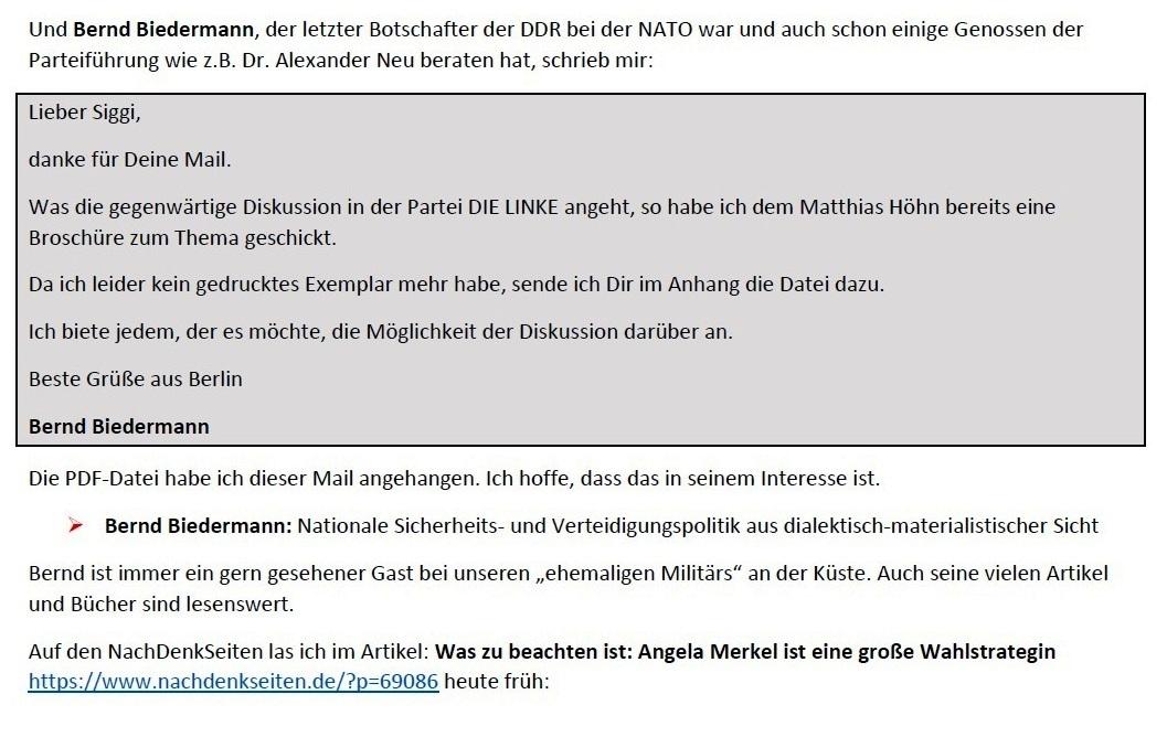 Aus dem Posteingang von Siegfried Dienel vom 23.01.2021 - Antwort auf die E-Mail an Ellen Brombacher - Abschnitt 2 von 5