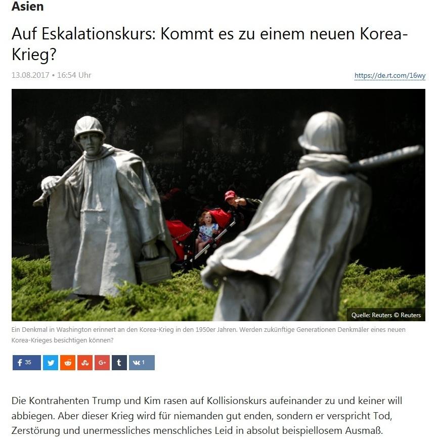Asien - Auf Eskalationskurs: Kommt es zu einem neuen Korea-Krieg? - Von Rainer Rupp