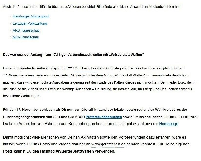 #aufstehen - DIE SAMMLUNGSBEWEGUNG  auf Ostsee-Rundschau.de - Neue Unabhängige Onlinezeitungen (NUOZ) Ostsee-Rundschau.de - vielseitig, informativ und unabhängig - Präsenzen der Kommunikation und der Publizistik mit vielen Fotos und  bunter Vielfalt