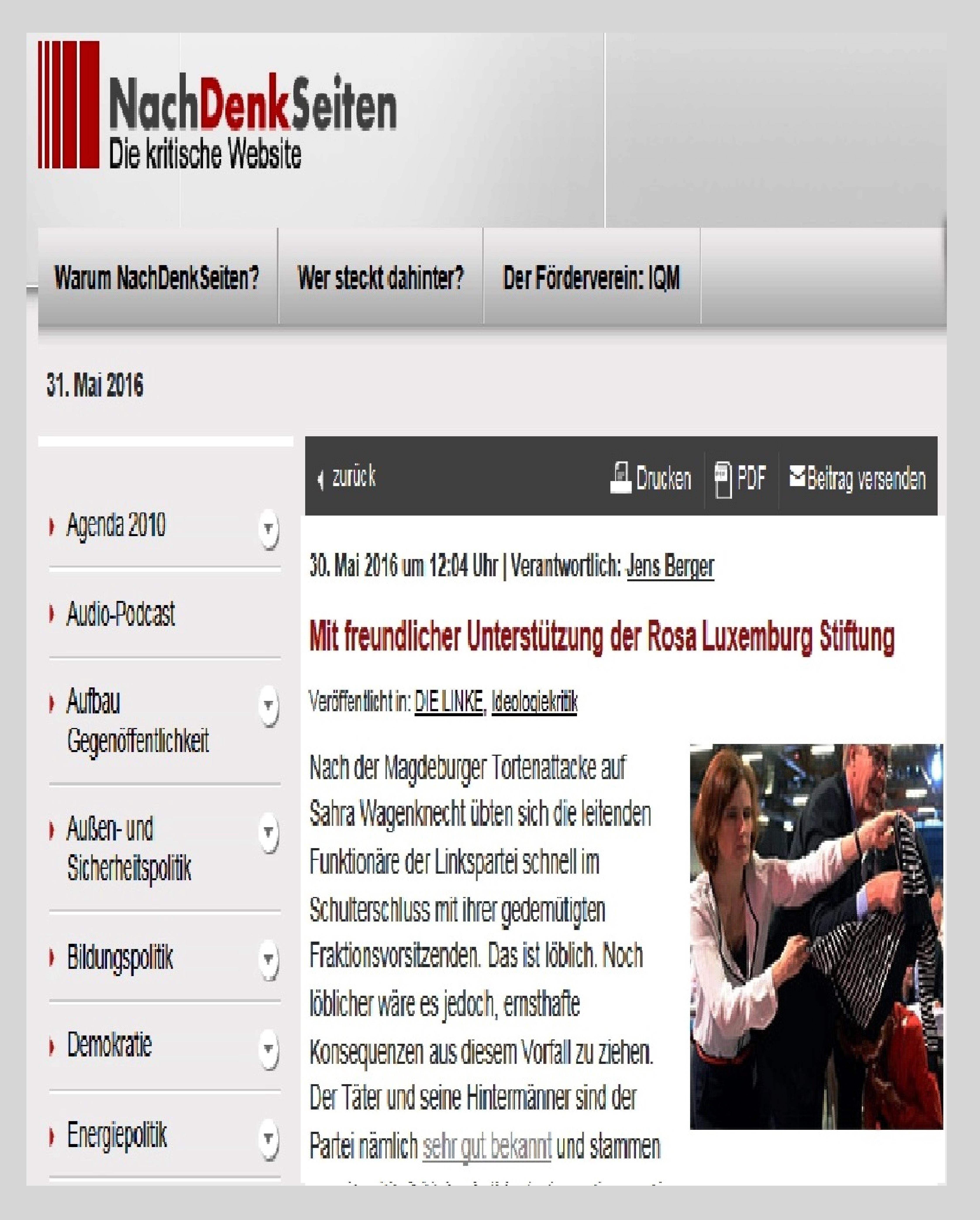 Mit freundlicher Unterst�tzung der Rosa Luxemburg Stiftung | NachDenkSeiten - Die kritische Website