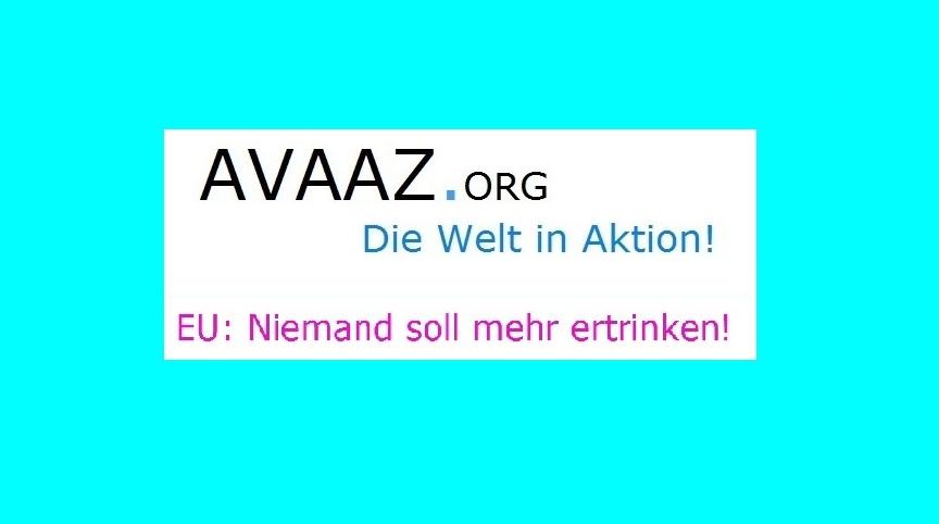 AVAAZ.Org - Kampagne EU: Niemand soll mehr ertrinken!