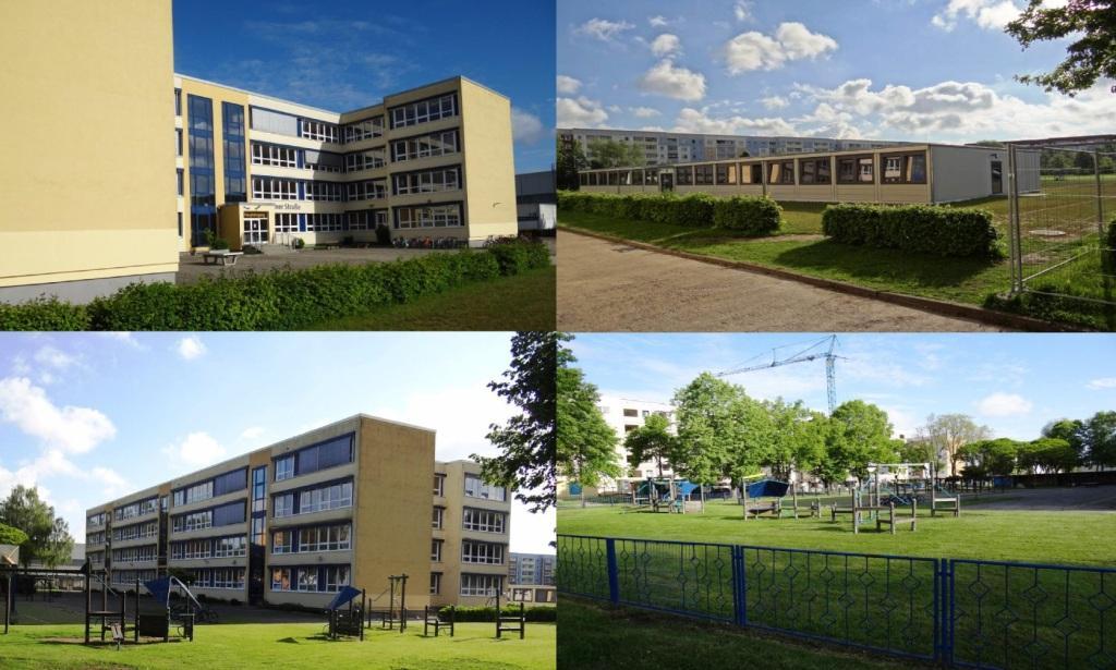 Aktuelle Bilder von der Bernsteinschule Ribnitz-Damgarten und vom Bauvorhaben Bildungscampus Ribnitz-Damgarten in unmittelbarer Nähe der Bernsteinschule in der Georg-Adolf-Demmler-Straße in Ribnitz-Damgarten  -  Fotos: Eckart Kreitlow