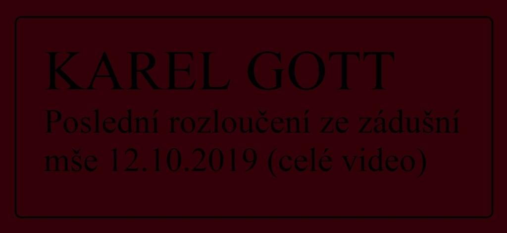 Bewegender Abschied von Karel Gott im Veitsdom in Prag am 12. Oktober 2019
