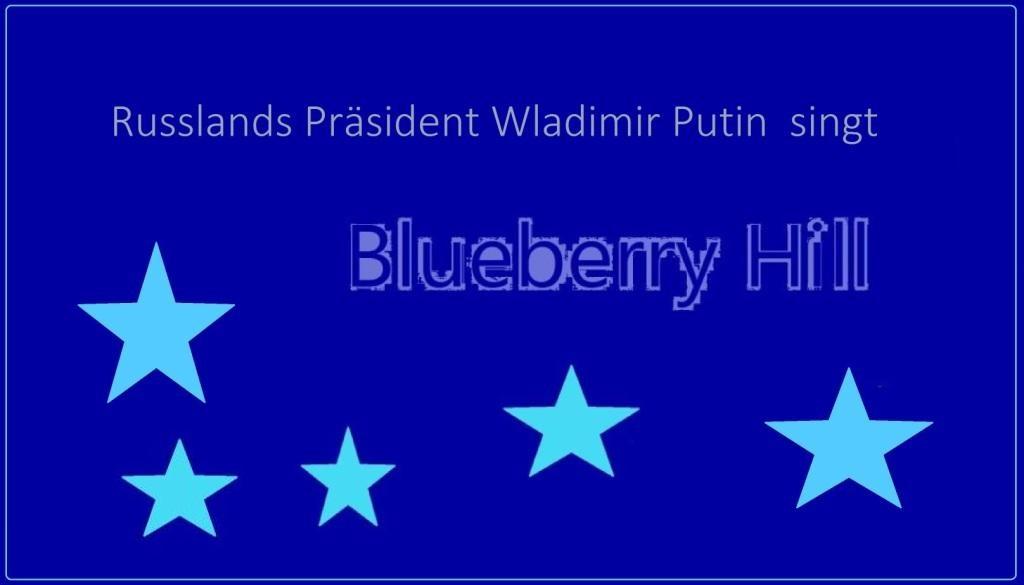 Russlands Präsident Wladimir Putin singt Blueberry Hill