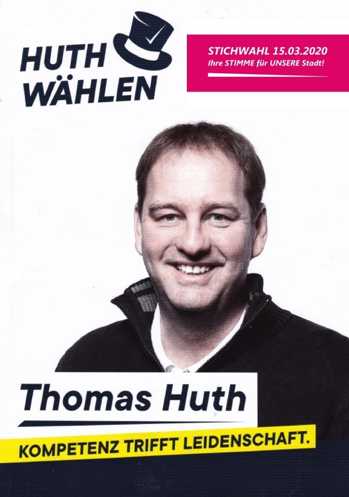 Bürgermeisterwahl Ribnitz-Damgarten 1. März 2020 - Kompetenz trifft Leidenschaft - Thomas Huth wählen