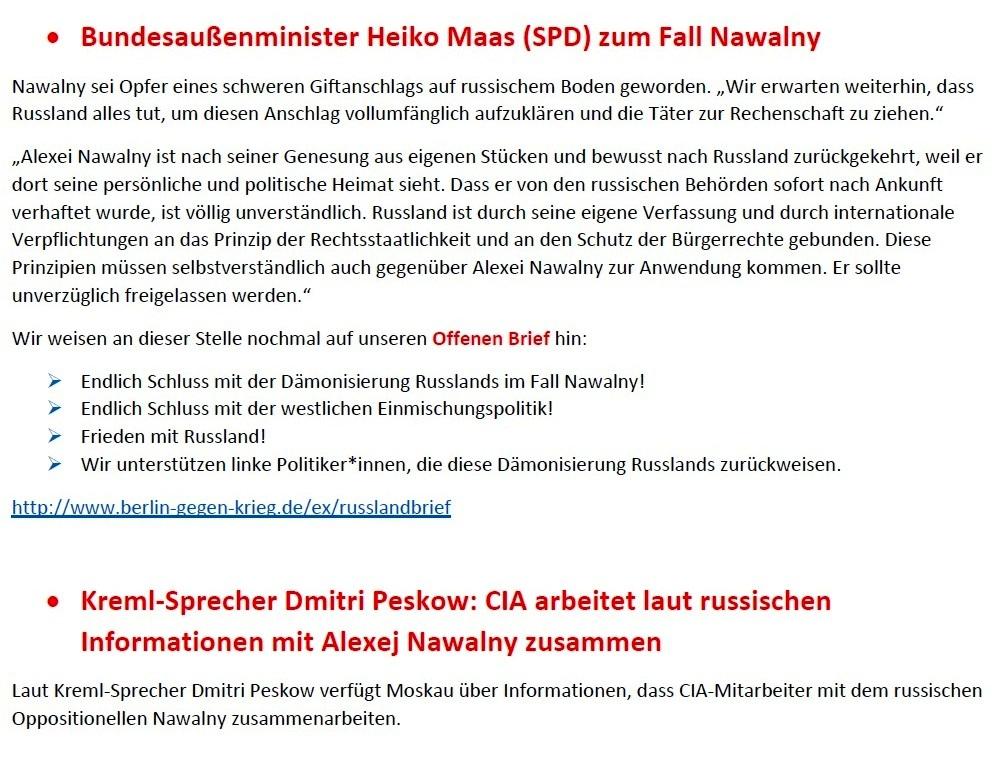 Wer ist der russische oppositionelle Nawalny? - Ein Lügner im Dienste russlandfeindlicher Interessen! - CO-OP NEWS - Co-op Anti-War Cafe Berlin  - Aus dem Posteingang von Siegfried Dienel vom 25.01.2021 - Abschnitt 4 von 5 Abschnitten