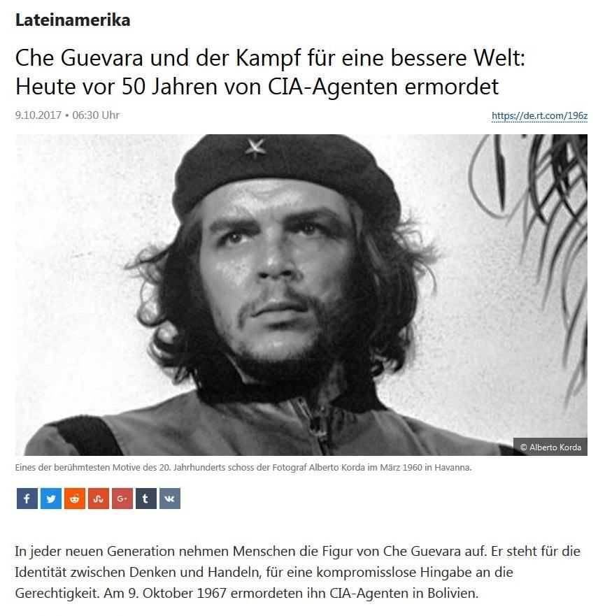 Lateinamerika - Che Guevara und der Kampf für eine bessere Welt: Heute vor 50 Jahren von CIA-Agenten ermordet.