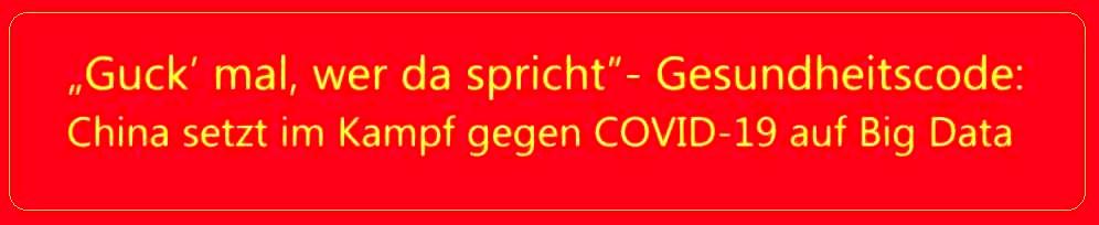 'Guck' mal, wer da spricht'- Gesundheitscode: China setzt im Kampf gegen COVID-19 auf Big Data - China Radio International - CRI online Deutsch -  29.02.2020