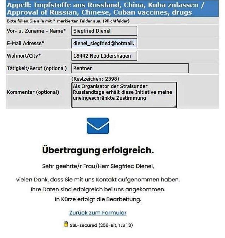 Covid-19 Appell - Zulassung für russische, chinesische, kubanische Impfstoffe - BERLIN-GEGEN-KRIEG.DE - Aus dem Posteingang von Siegfried Dienel vom 18.03.2021 - Abschnitt 4