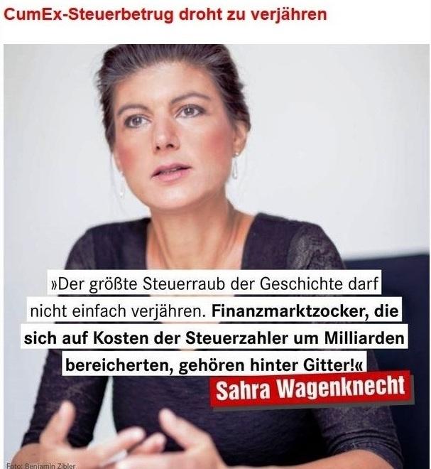 Aus dem Posteingang von Dr. Sahra Wagenknecht (MdB) - Team Sahra 11.06.2020 - Aktionäre werden gerettet, Arbeitsplätze nicht.