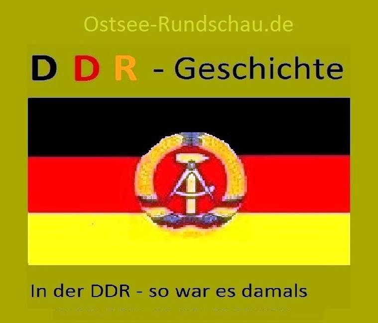 DDR-Geschichte auf Ostsee-Rundschau.de - In der DDR - so war es damals -  Die DDR bestand als souveräner Staat vom 07.Oktober 1949 bis 03.Oktober 1990.  Grafik / Zeichnung: Eckart Kreitlow