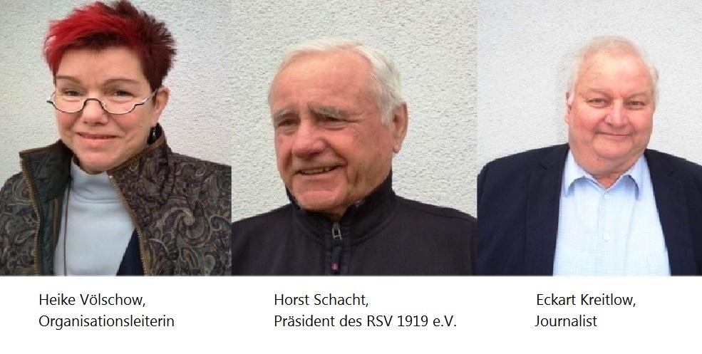 Von links nach rechts: Heike Völschow,  Horst Schacht, Eckart Kreitlow