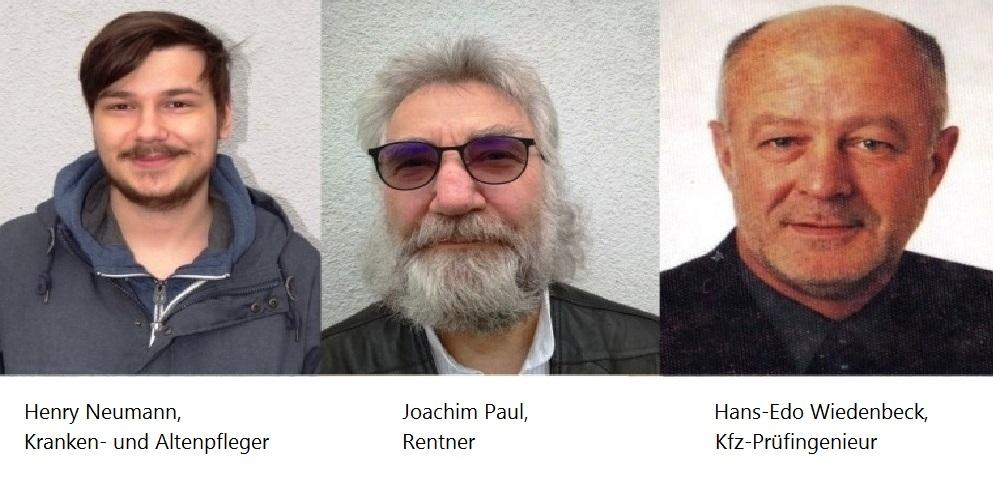 Von links nach rechts: Henry Neumann, Joachim Paul, Hans-Edo Wiedenbeck