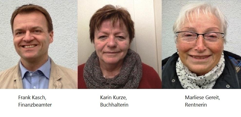 Von links nach rechts: Frank Kasch, Karin Kurze, Marliese Gereit