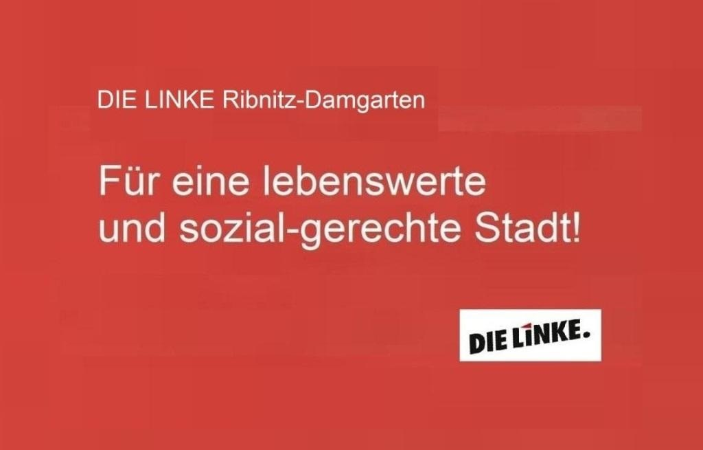 Wahlvorschlag DIE LINKE zur Kommunalwahl am 26. Mai 2019 für die Stadtvertretung der Bernsteinstadt Ribnitz-Damgarten: Heike Völschow, Horst Schacht, Eckart Kreitlow, Henry Neumann, Joachim Paul, Hans-Edo Wiedenbeck, Frank Kasch, Karin Kurze, Marliese Gereit.