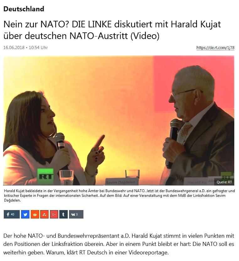 Deutschland - Nein zur NATO? DIE LINKE diskutiert mit Harald Kujat über deutschen NATO-Austritt (Video)