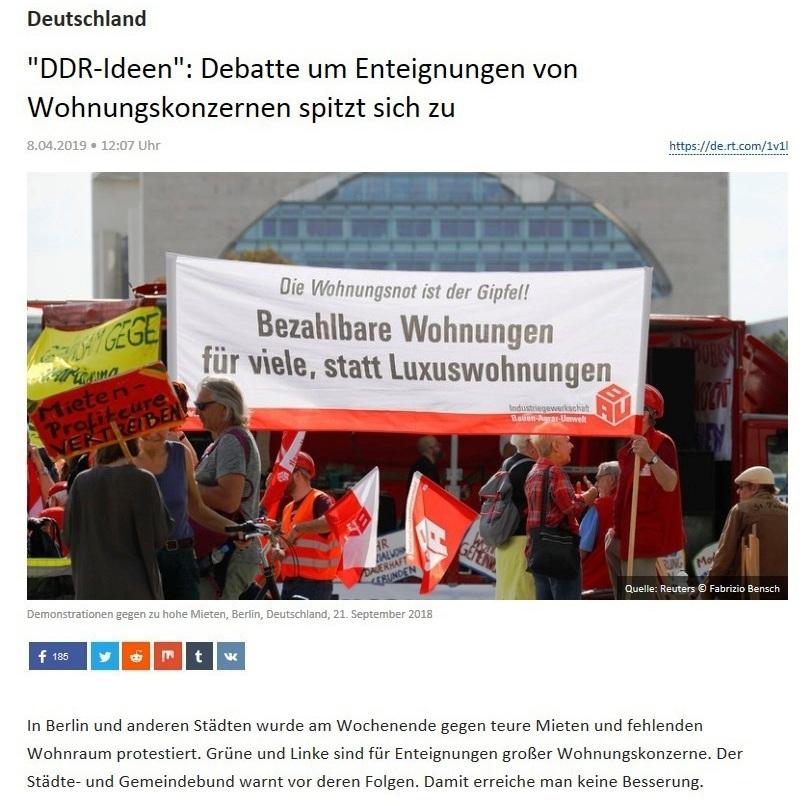 Deutschland - 'DDR-Ideen': Debatte um Enteignungen von Wohnungskonzernen spitzt sich zu