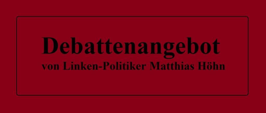 Aus dem Posteingang von Siegfried Dienel - Debattenbeitrag von Matthias Höhn DIE LINKE zur Sicherheitspolitik der Linkspartei - PDF