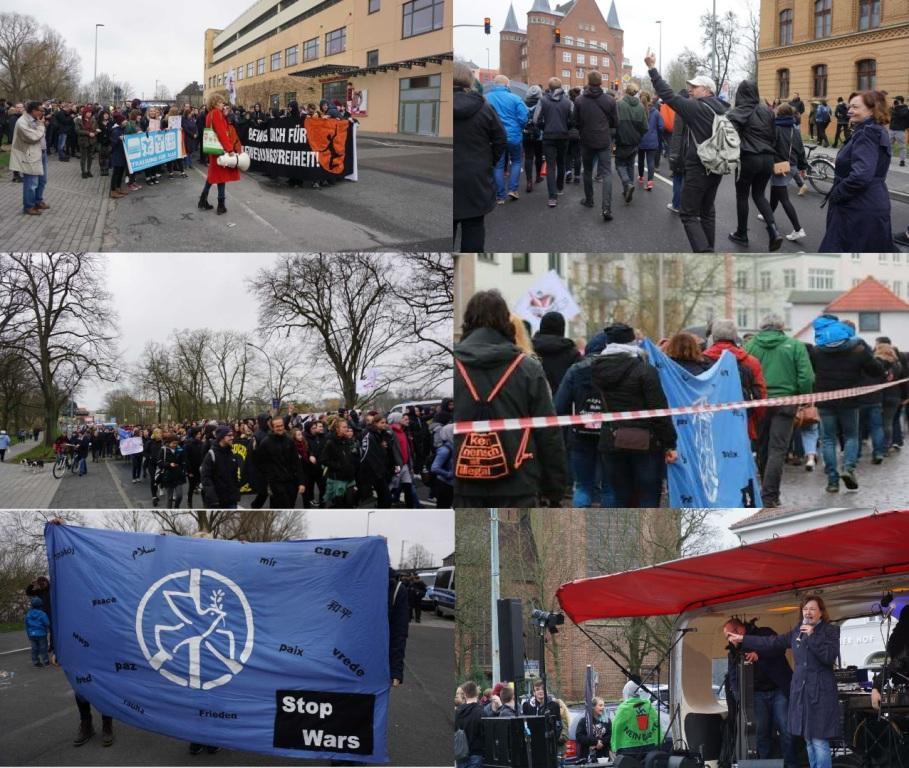 Aus dem Posteingang - Demo am 14. April gegen rechte Gewalt und Stärkung der Jugendarbeit in Stralsund - Fotos
