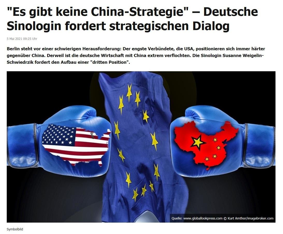 'Es gibt keine China-Strategie' – Deutsche Sinologin fordert strategischen Dialog -  RT DE - 5 Mai 2021 09:25 Uhr
