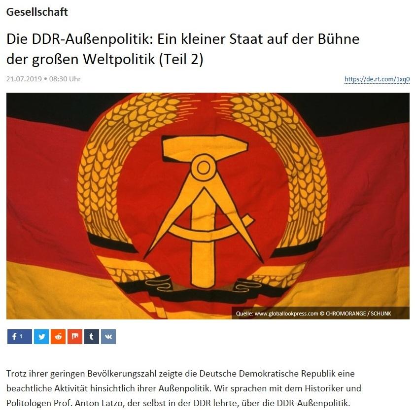 Gesellschaft - Die DDR-Außenpolitik: Ein kleiner Staat auf der Bühne der großen Weltpolitik (Teil 2)