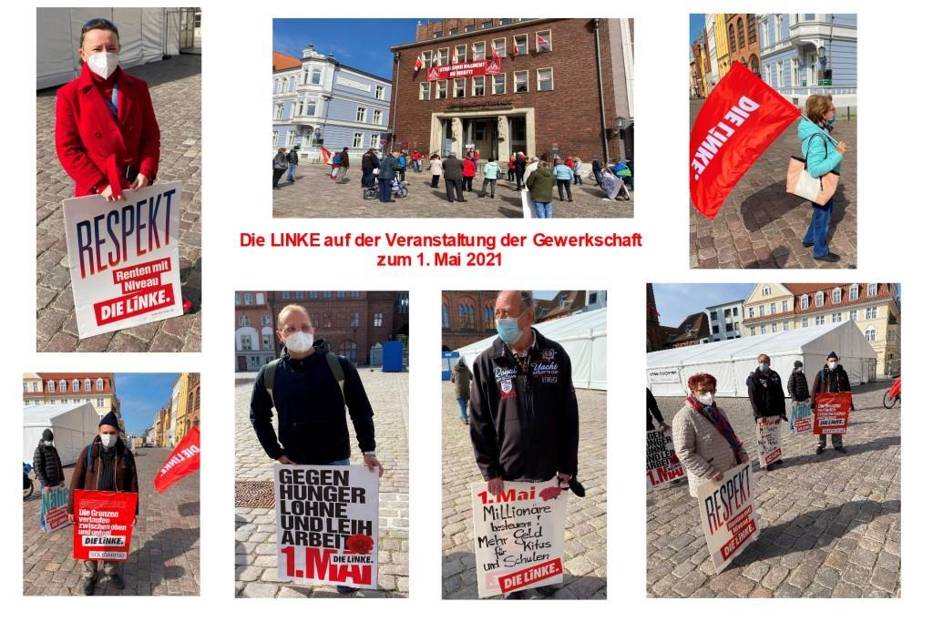 1. Mai 2021 - KAMPFTAG DER ARBEITERKLASSE - DIE LINKE auf der Veranstaltung der Gewerkschaft zum 1. Mai 2021 - Aus dem Posteingang von Siegfried Dienel vom 02.05.2021