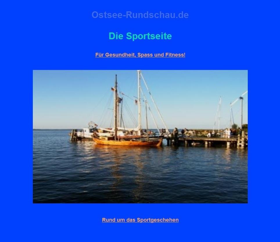 Die Sportseite auf Ostsee-Rundschau.de  - Für Gesundheit, Spass und Fitness!  - rund um das Sportgeschehen - Neue Unabhängige Onlinezeitungen (NUOZ)