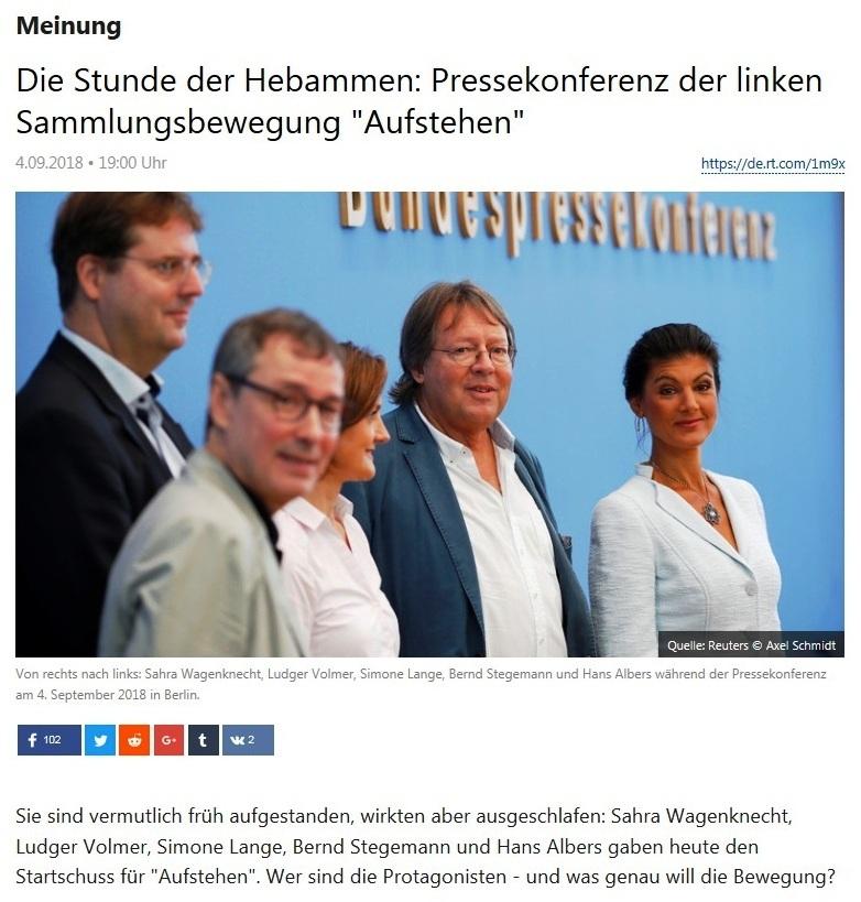 Meinung - Die Stunde der Hebammen: Pressekonferenz der linken Sammlungsbewegung 'Aufstehen'
