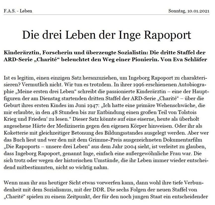 Aus dem Posteingang von Dr. Marianne Linke und Dr. Lienhard Linke  -  Die drei Leben der Rapoports - PDF - Seite 1