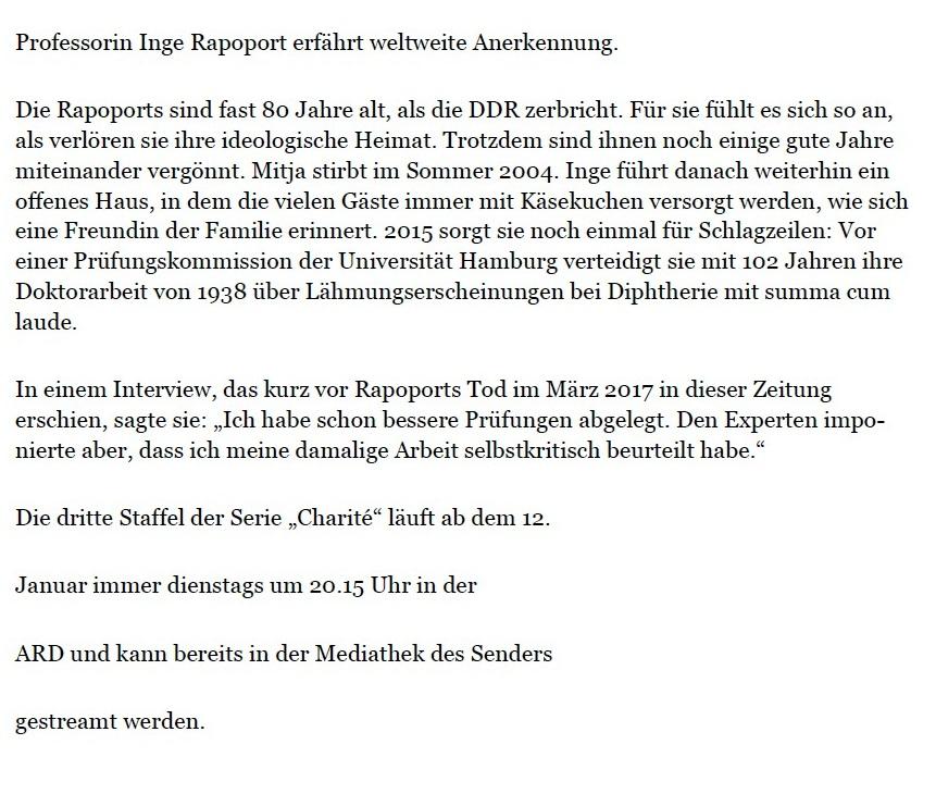 Aus dem Posteingang von Dr. Marianne Linke und Dr. Lienhard Linke  -  Die drei Leben der Rapoports - PDF - Seite 5