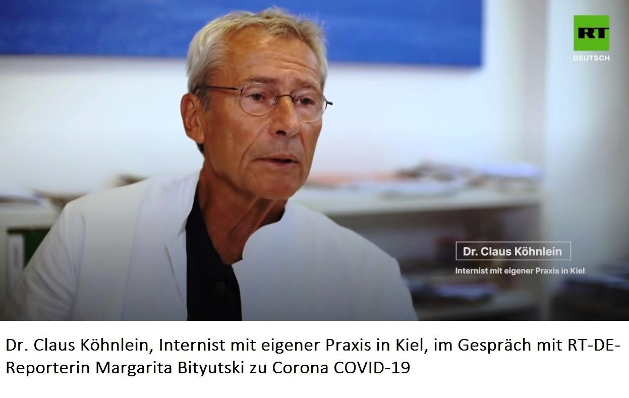 Dr. Claus Köhnlein, Internist mit eigener Praxis in Kiel, im Gespräch mit RT-DE-Reporterin Margarita Bityutski zu Corona COVID-19.