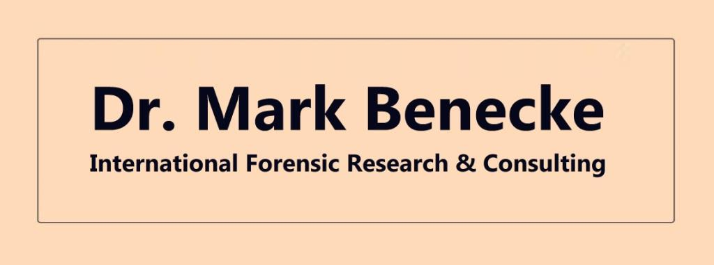 Dr. Mark Benecke -  International Forensic Research & Consulting - Kriminalbiologe