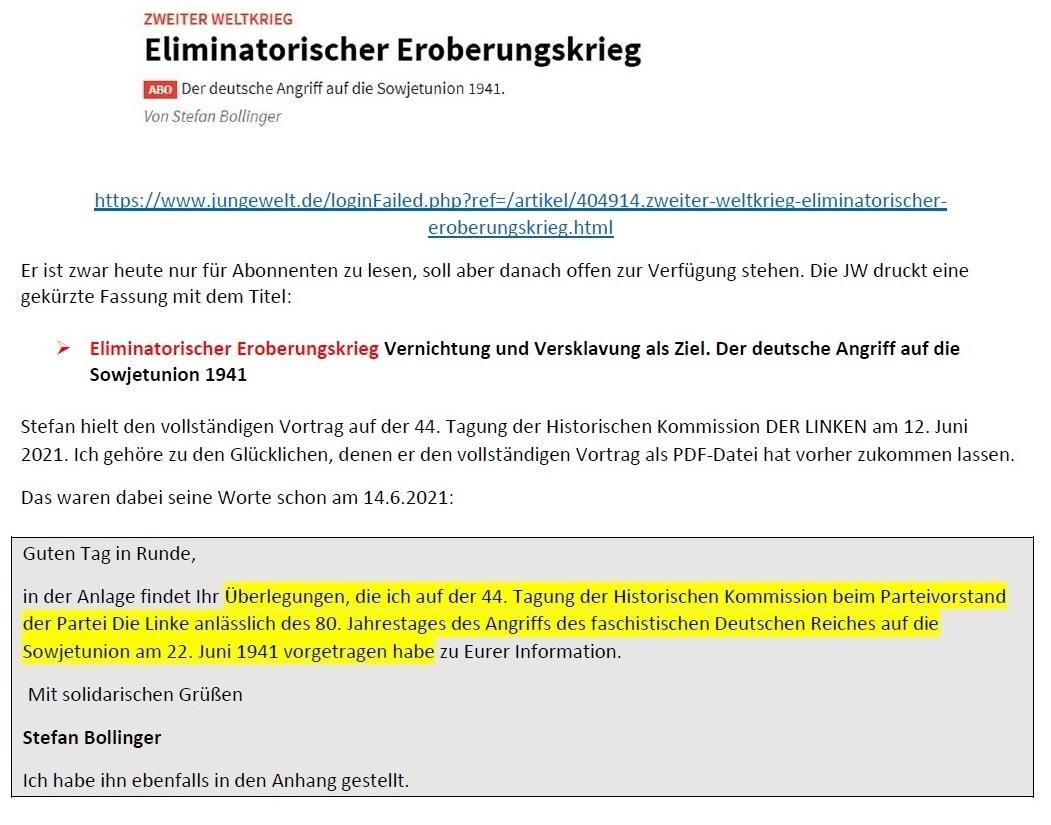 E-Mail an Grischa - Aus dem Posteingang von Siefried Dienel vom 23.06.2021 -  Abschnitt 4