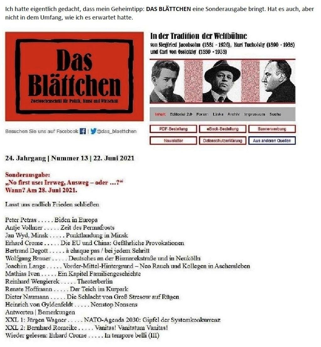 E-Mail an Grischa - Aus dem Posteingang von Siefried Dienel vom 23.06.2021 -  Abschnitt 8