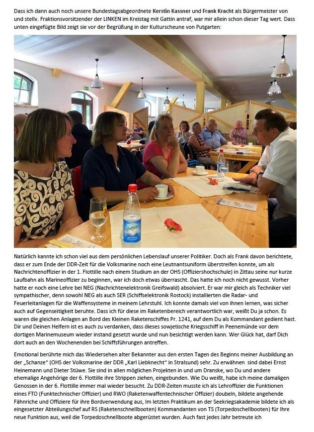 Danke für Arkona - E-Mail an Holger Neidel vom 4.07.2021 - Aus dem Posteingang von Siegfried Dienel vom 5.07.2021 - Abschnitt 2