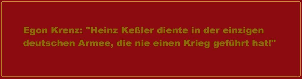 Egon Krenz in seiner Trauerrede für Armeegeneral a.D. Heinz Keßler am 07.06.2017 in Berlin: Heinz Keßler diente in der einzigen deutschen Armee, die nie einen Krieg geführt hat.