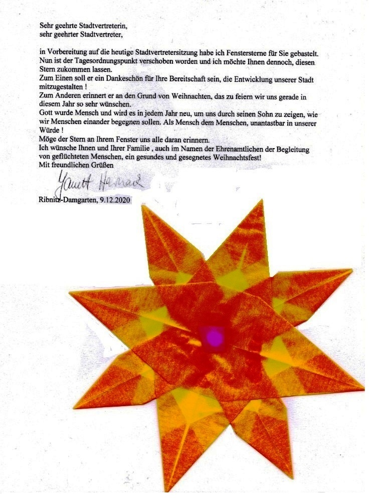 Frau Janett Harnack, ehemalige Gemeindepädagogin der Ribnitz-Damgartener evangelisch-lutherischen Kirchengemeinde