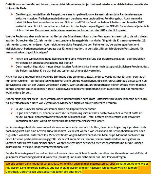 Eine fatale Inkompetenzkaskade - Das Versagen von Politik und Administration in der Corona-Krise - Von Tom Wohlfahrt - ND - 26.03.2021, 14:03 Uhr - Wochenendausgabe vom 27.03./ 28.03. 2021 - Abschnitt 3