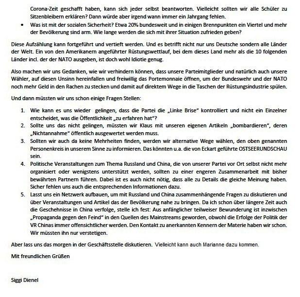 E-Mail an Gudrun - Aus dem Posteingang von Siefried Dienel vom 03.08.2021 -  Abschnitt 2