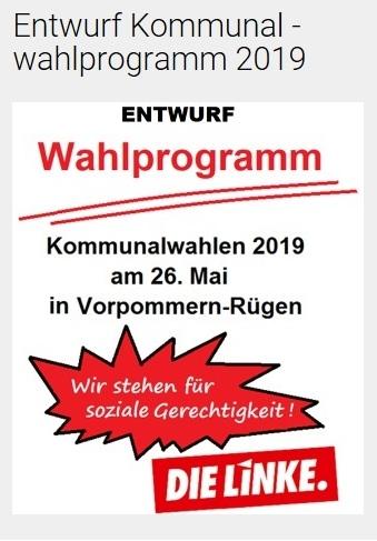 Entwurf Kommunalwahlprogramm DIE LINKE Vorpommern-Rügen 2019