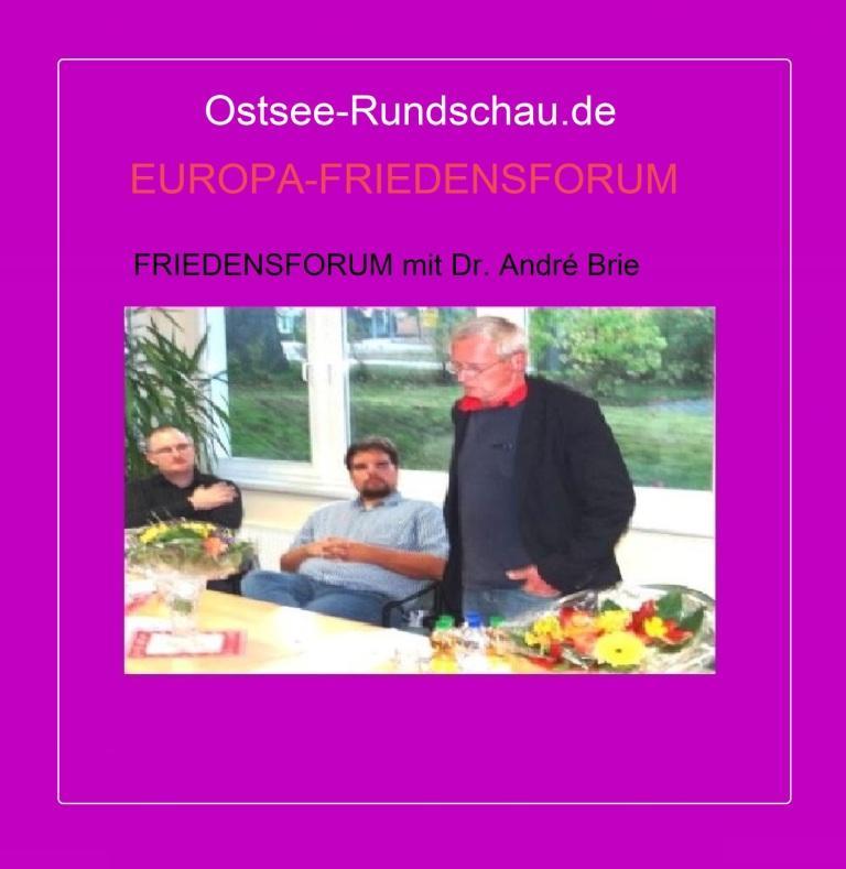 EUROPA-FRIEDENSFORUM -  Friedensforum mit Dr. André Brie, Mitglied des Landtages von Mecklenburg-Vorpommern und Sprecher der Fraktion DIE LINKE für Europa- und Verbraucherschutzpolitik, am 6. Oktober 2014 in Ribnitz-Damgarten. Dr. André Brie ist auch Mitglied des Lenkungsausschusses des Petersburger Dialoges zwischen Russland und Deutschland. Foto: Eckart Kreitlow